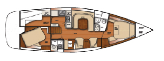Catalina 445 accommodations plan