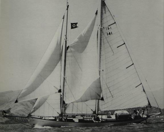 Alden schooner Constellation under sail