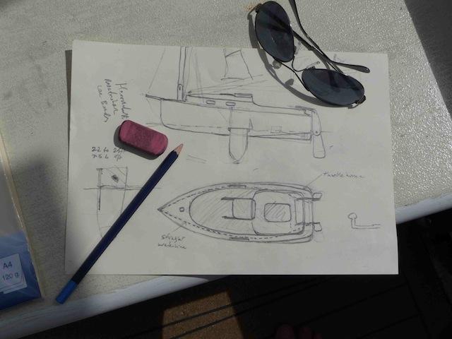 Shoal-draft cruiser drawing