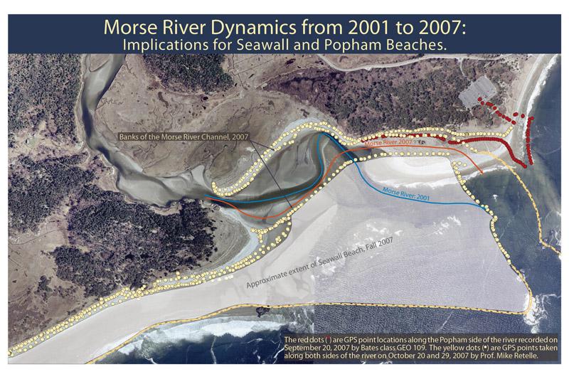 Morse River mouth changes