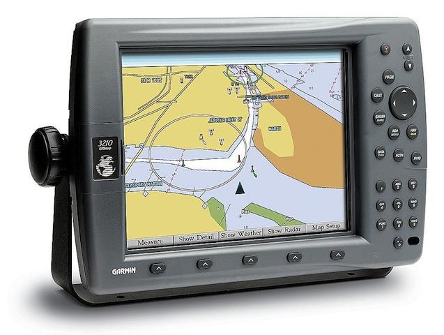 Modern GPS chartplotter