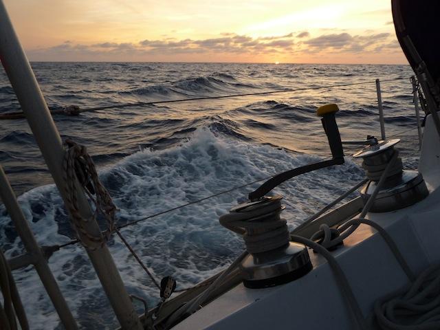 Sunset horizon at sea on Lunacy