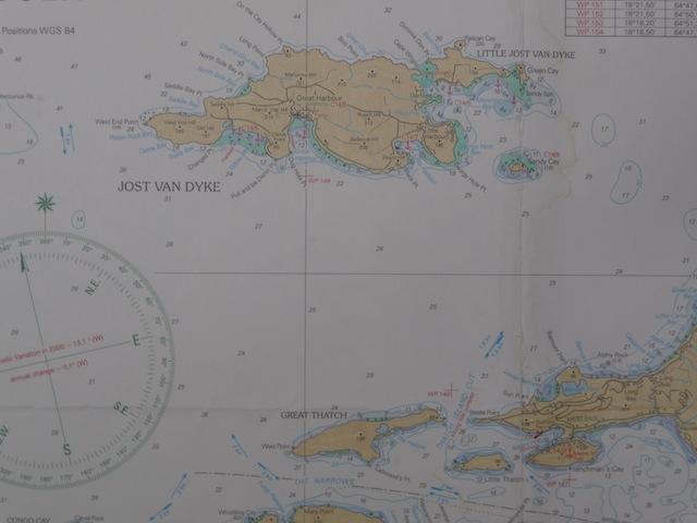 West End of Tortola and Jost Van Dyke