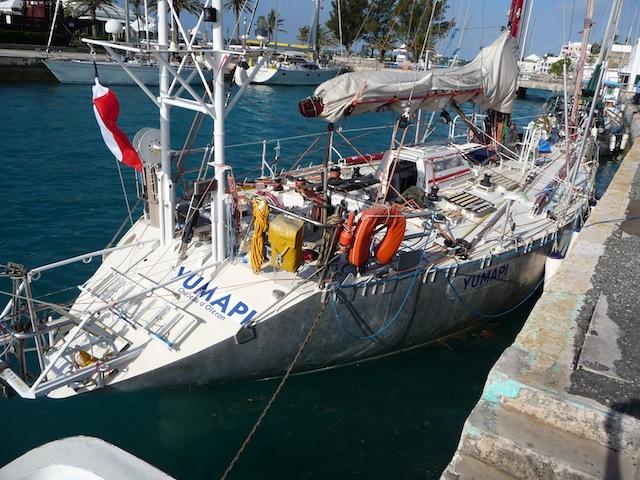 SV Yumapi at St. Georges, Bermuda