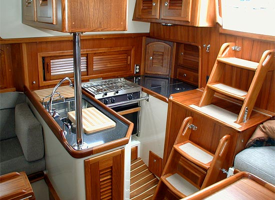 Pacific Seacraft 37 galley