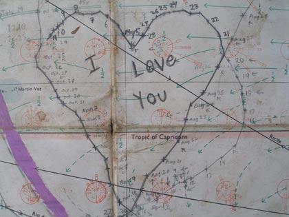Chart of Reid Stowe showing heart