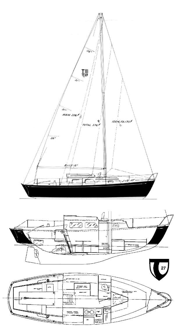 Tartan 27 line drawing