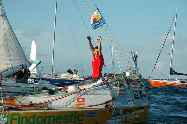 Alessandro di Benedetto finishing RTW voyage