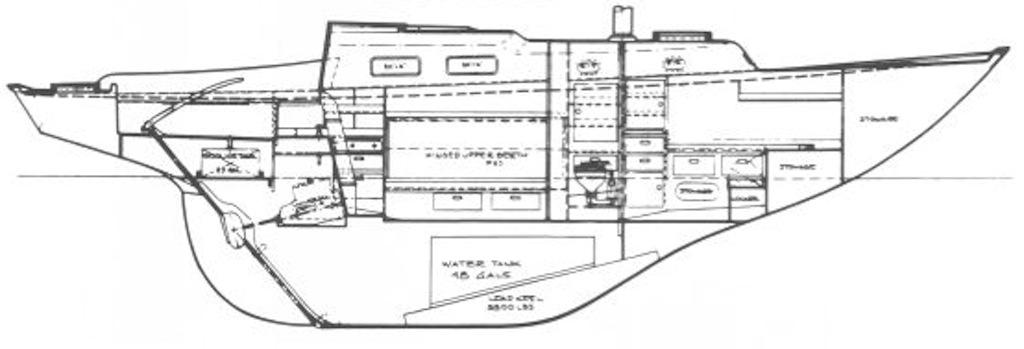Pearson Alberg 35 hull profile