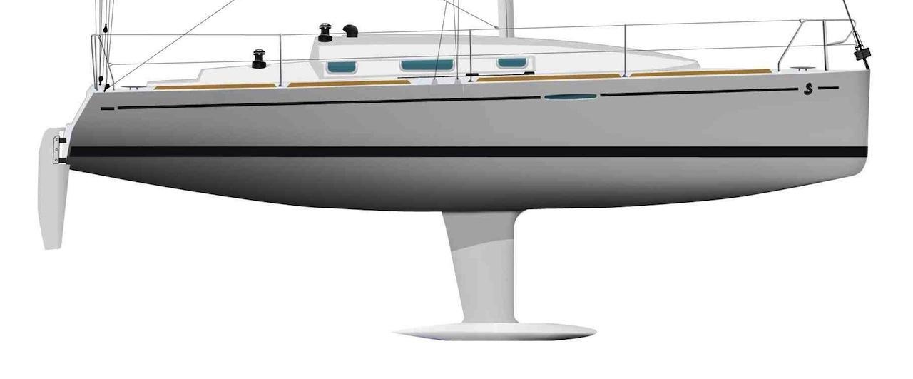 Beneteau First 30 hull profile