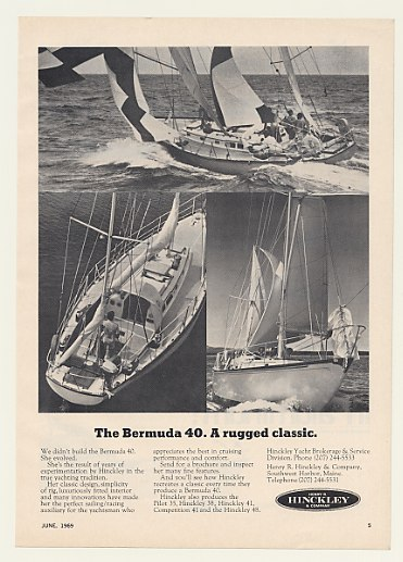 Print ad for Hinckley Bermuda 40