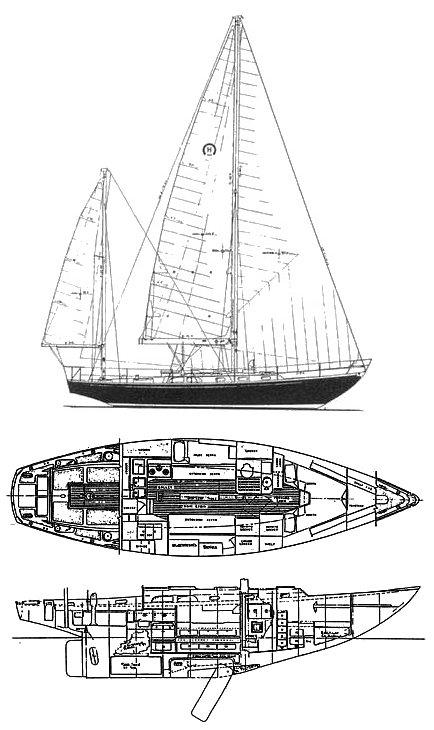 Hinckley Bermuda 40 drawing