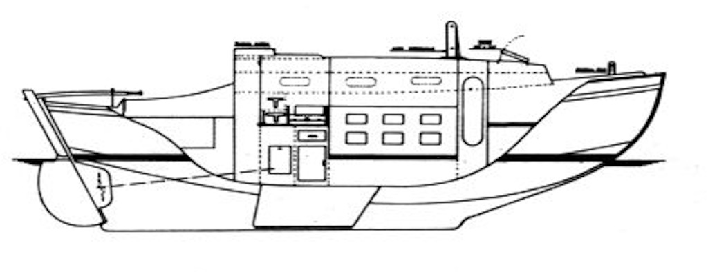 Golden Hind 31 hull profile
