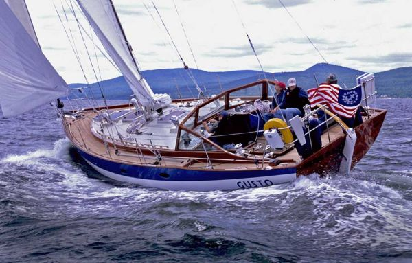 Chuck Paine's Gusto under sail