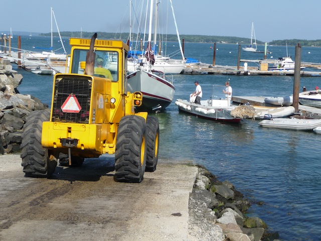 Hauling boats at Portland Yacht Services