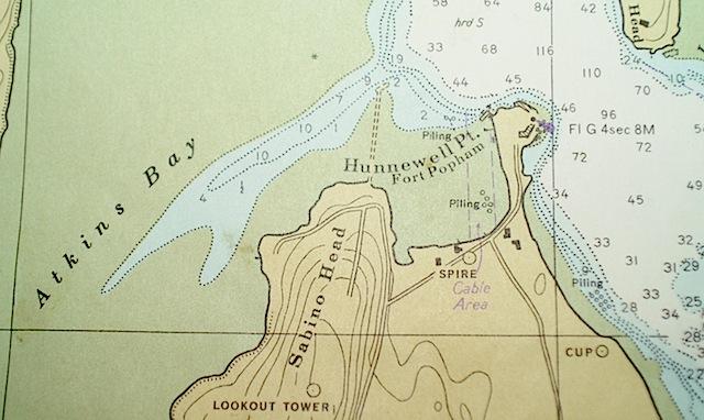 Chart of Popham Beach