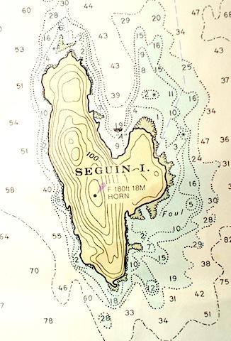 Chart of Seguin Island