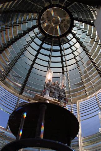 Fresnel lens at Seguin Island light
