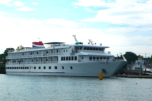 Cruise ship in Rockland, Maine