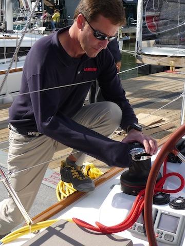 Harken Rewind winch on a new Jeanneau