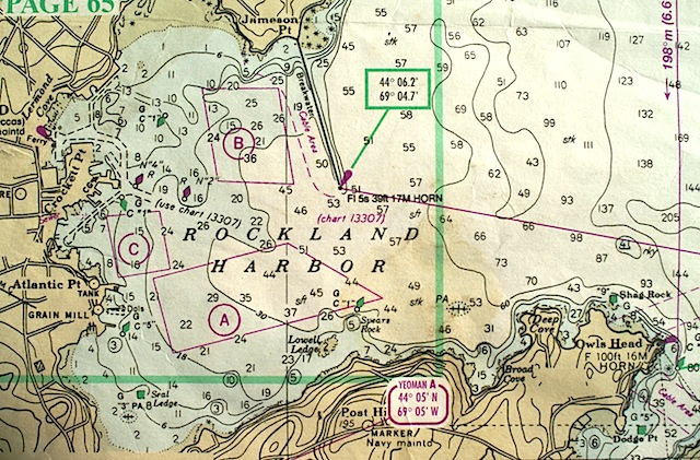 Chart of Rockland Harbor
