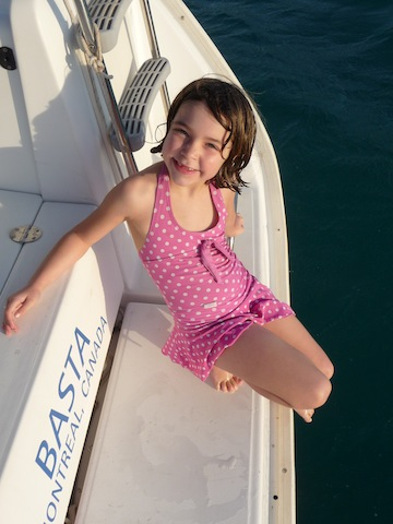 Lucy on charter boat