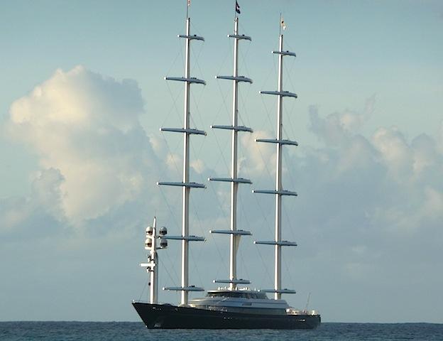 Maltese Falcon at anchor