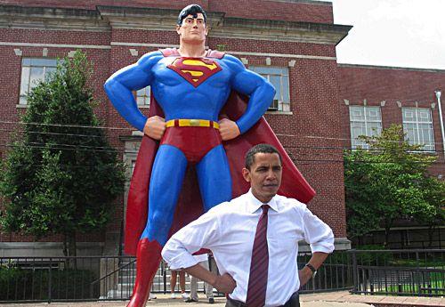 President Barack Obama (front)