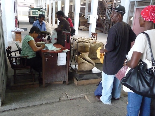 Nutmeg factory in Grenada