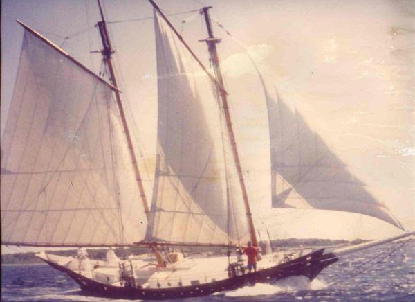 Tusitala under sail