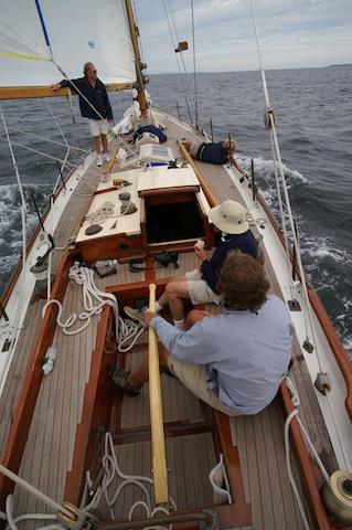 Racing aboard Dorade in 2007