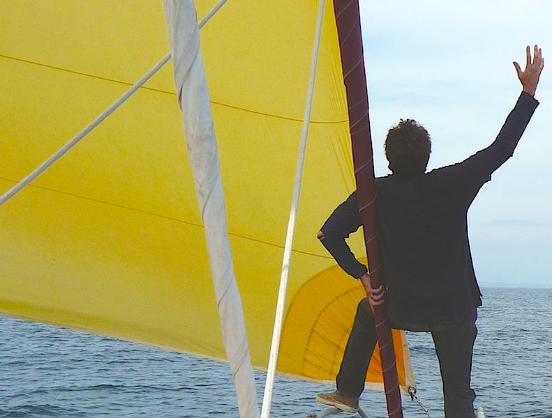 Downwind A-sail set