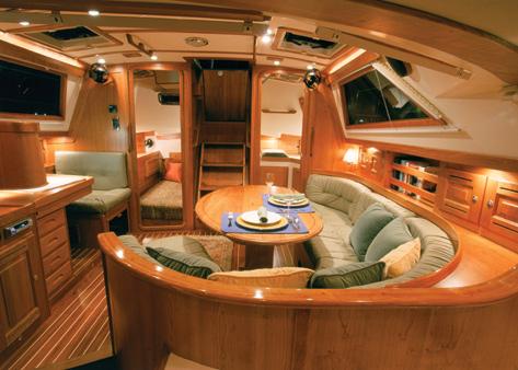 Modern sailboat interior