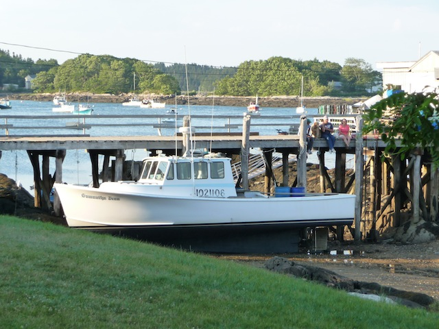 Lobster boat careened