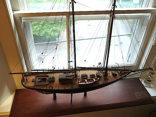 Model of schooner Morgana