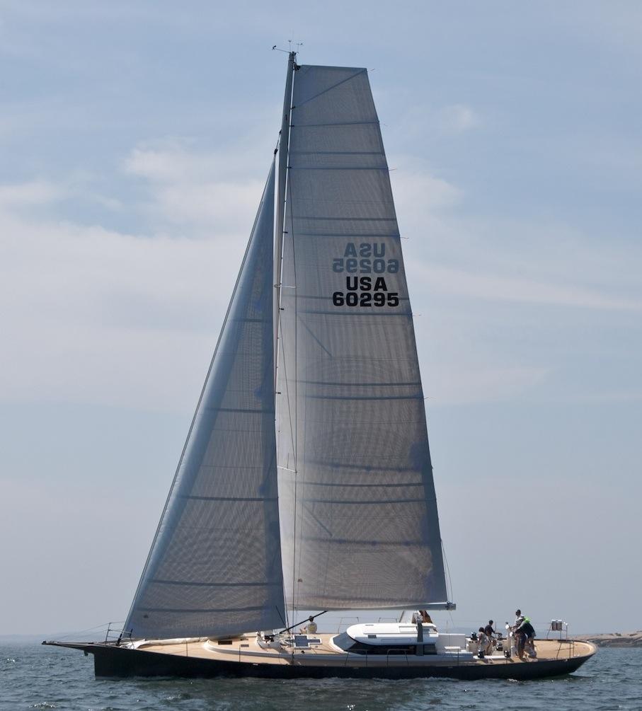 Isobel under sail