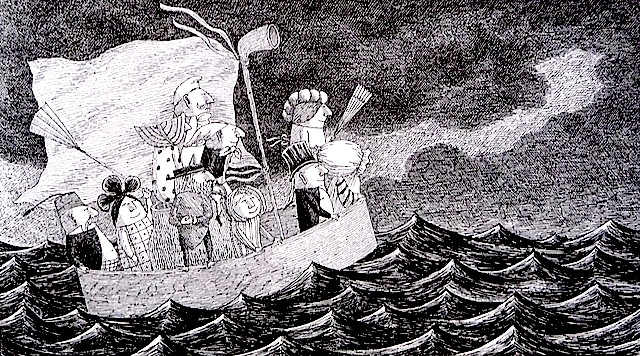 Edward Gorey drawing