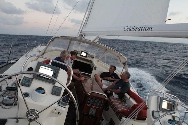 Celebration under sail