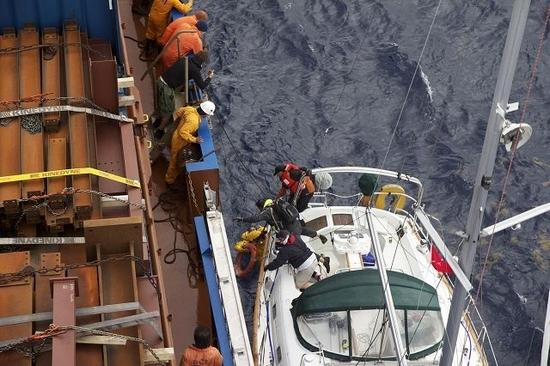 Sailboat evacuation