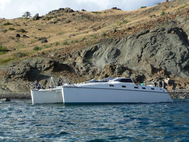 Boat wreck on Ile Fourchue