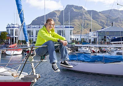 Laura Dekker in Cape Town