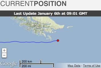 Matt Rutherford track around Cape Horn