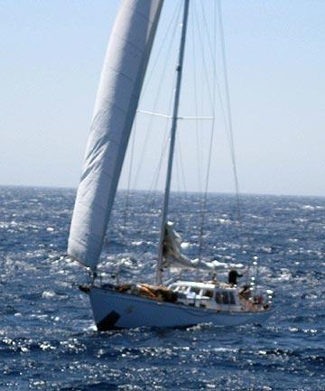 Nilaya under sail
