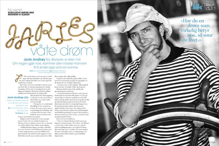 Jarle Andhoey magazine spread