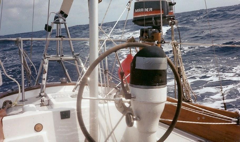 Alberg 35 cockpit