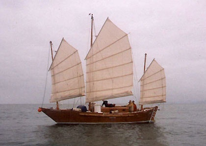 Liberdade replica under sail