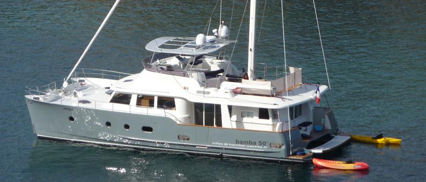 Bamba 50 at anchor