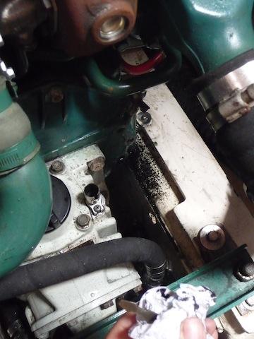 Diesel engine leaking oil