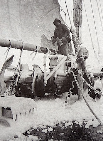 Ice on the rig