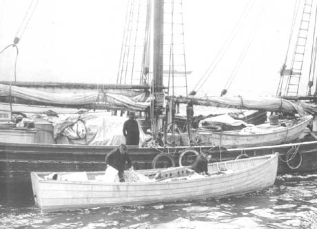 Loading a skiff on Rum Row